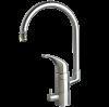 Vattenbesparing och energieffektiv 836 - NGL Stainless - Rostfri / blyfri köksblandare med DM-ansl underbänk och förberedd för DM-avstängning ovan bänk