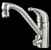 Vattenbesparing och energieffektiv 837 - NGL Stainless - Rostfri / blyfri köksblandare med DM-ansl underbänk och förberedd för DM-avstängning ovan bänk